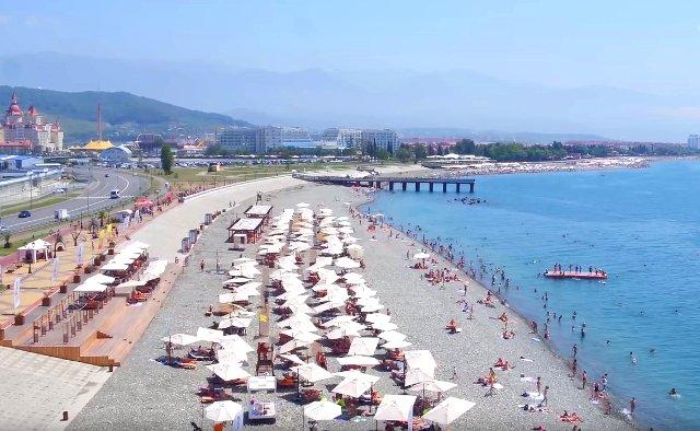 Лучшие пляжи Адлера: Чкаловский, Чайка, Мандарин, Огонек