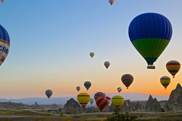 Каппадоки�, воздушные шары, фото