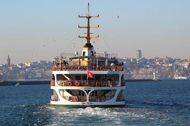 Стамбул, пароход, фото