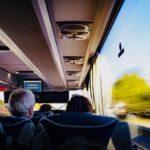 на автобусе, фото