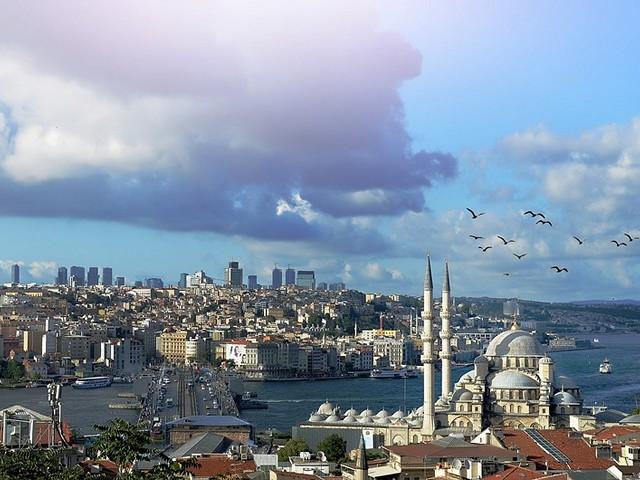 Районы Стамбула на карте на русском языке: Европа и Азия