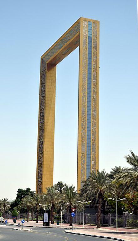 Золотая рамка в Дубае 1, фото